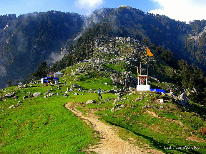 photos of Triund hike in the Indian Himalayas